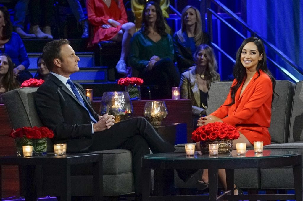 'The Bachelor' host Chris Harrison and contestant Victoria Fuller