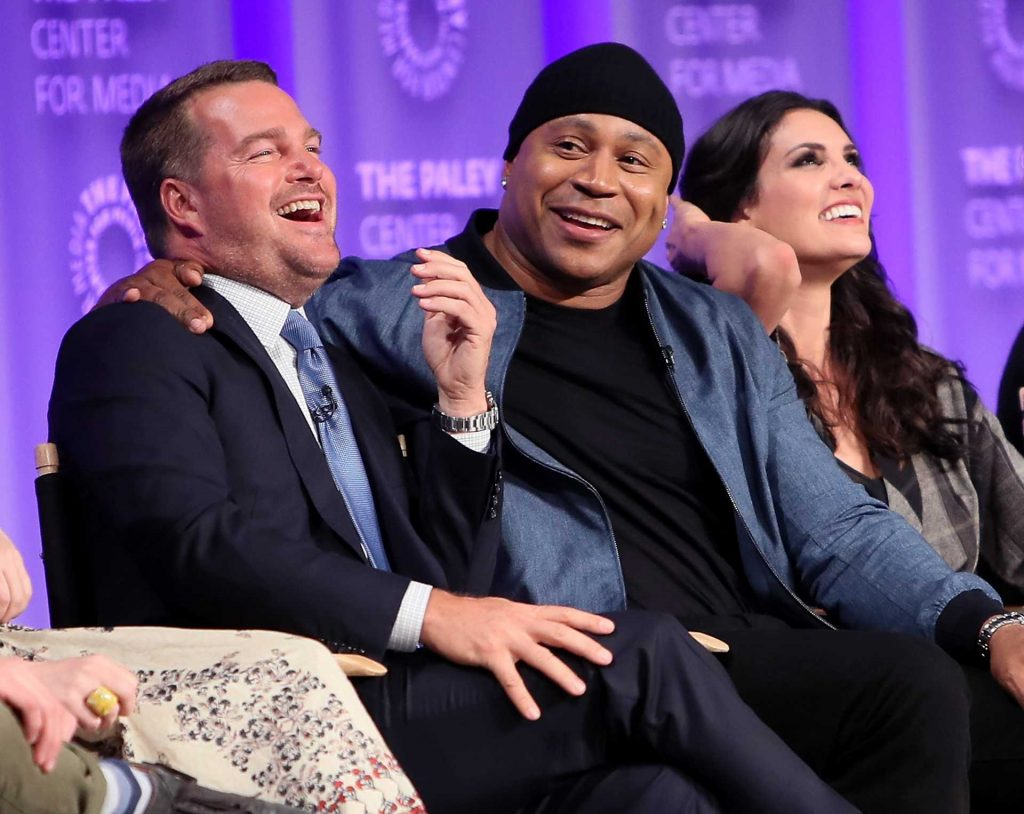 Chris O'Donnell, LL Cool J, and Daniela Ruah | David Livingston/Getty Images