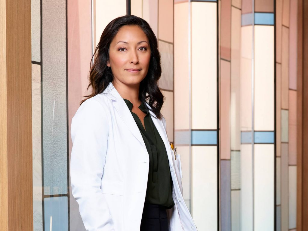 Christina Chang on the set of The Good Doctor | Craig Sjodin/Walt Disney Television via Getty Images