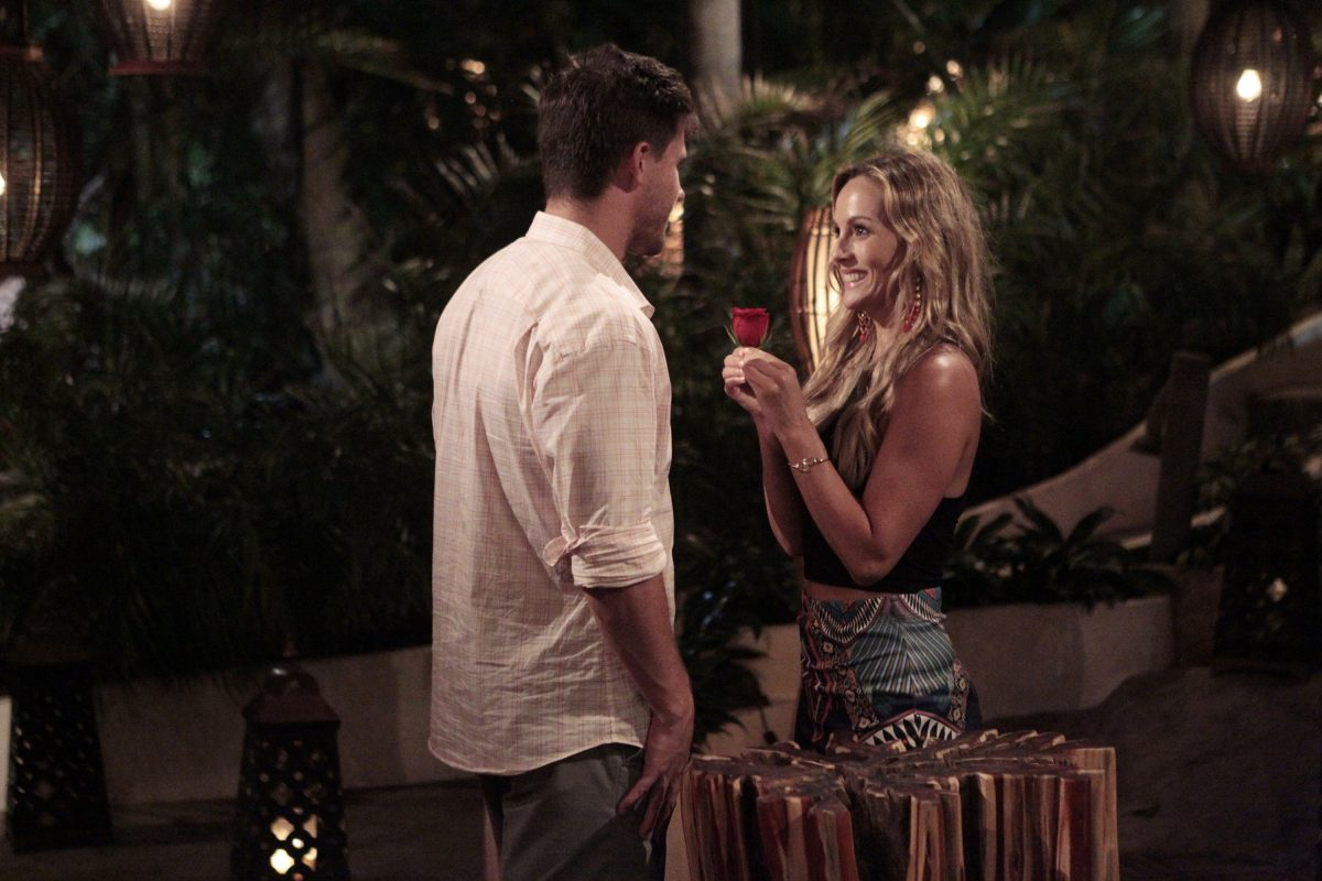 Clare Crawley giving a rose on 'Bachelor in Paradise'