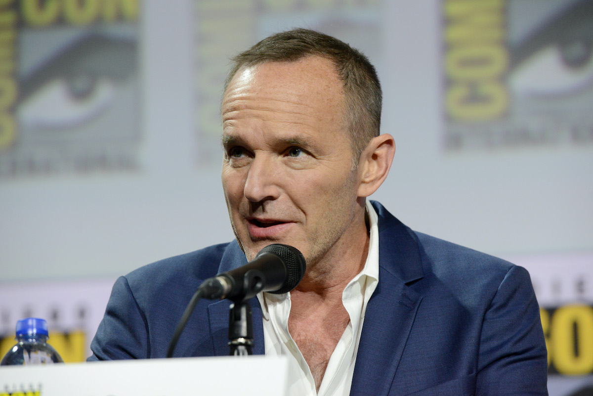 "Clark Gregg speaks at the Marvel's ""Agents Of S.H.I.E.L.D."" panel during San Diego Comic-Con"