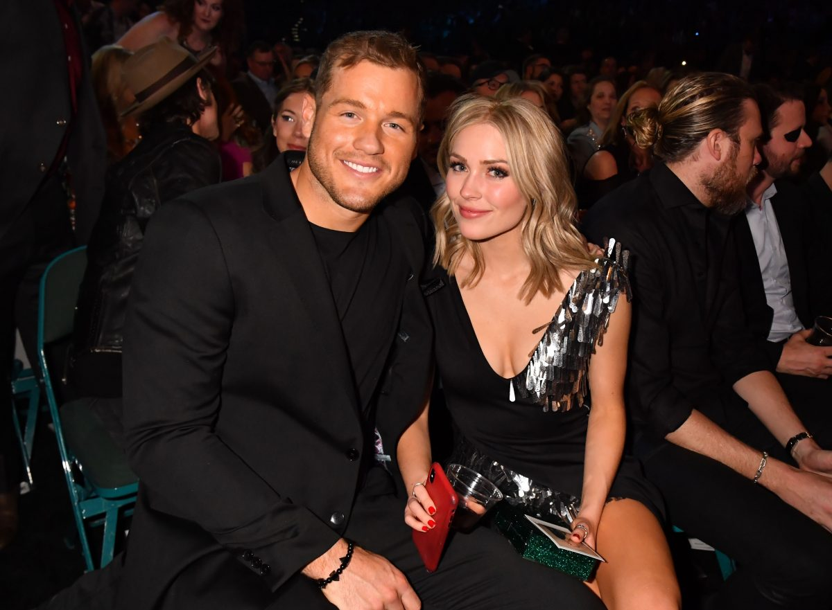 Colton Underwood and Cassie Randolph at the 54th Academy Of Country Music Awards