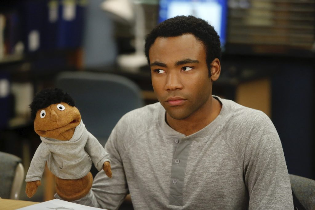 Donald Glover as Troy on 'Community'