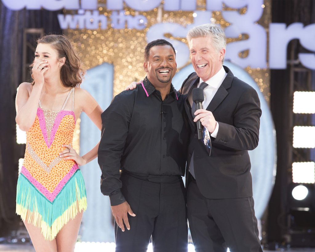 """Alfonso Ribeiro and Tom Bergeron during the two-hour Season Finale of """"Dancing with the Stars'"""