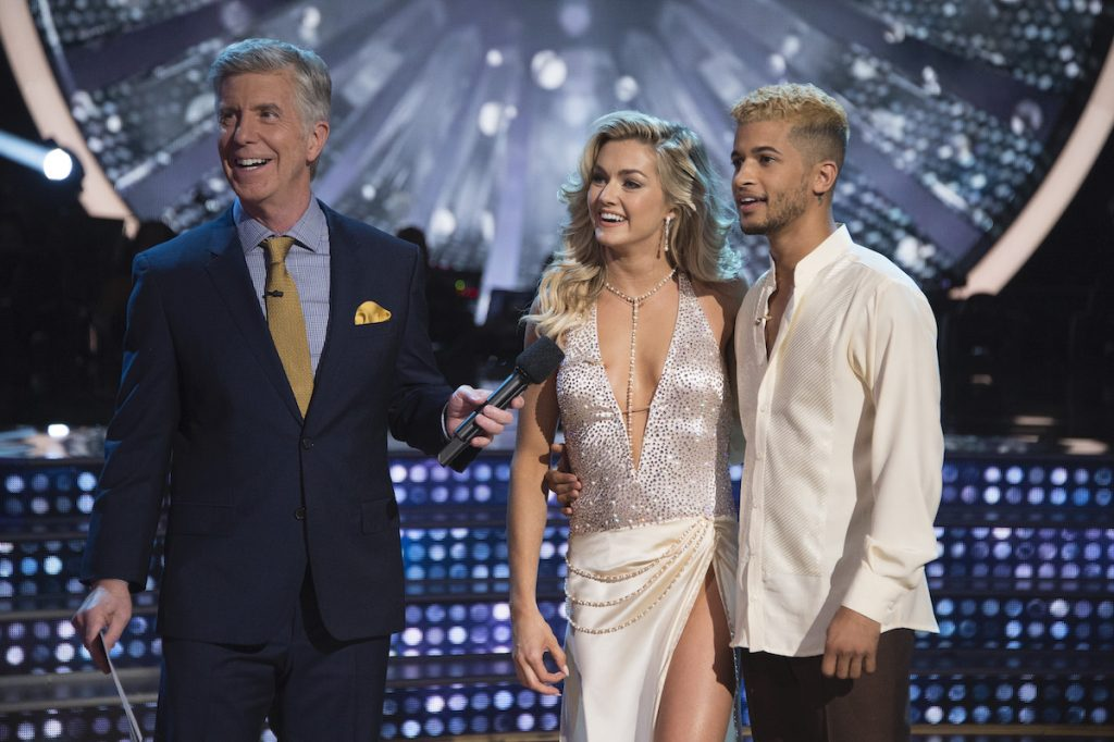 Tom Bergeron, Lindsay Arnold, and Jordan Fisher of 'Dancing with the Stars'