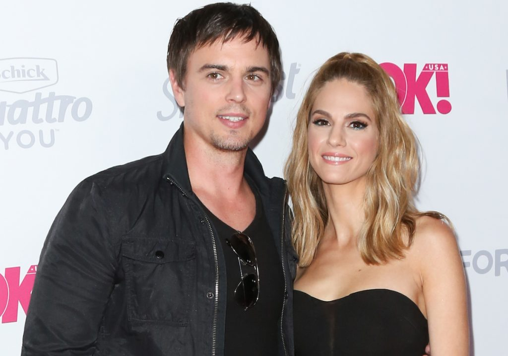 Darin Brooks (L) and Kelly Kruger