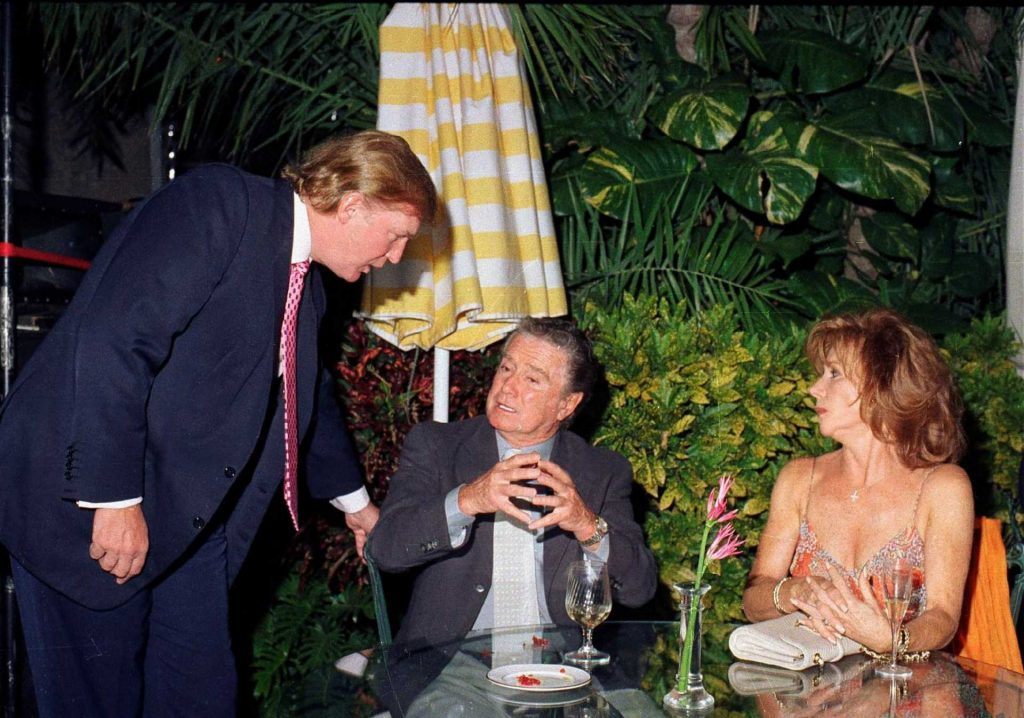 Donald Trump with Regis Phibin and his wife, Joy at Mar-a-Lago in 2000  Davidoff Studios/Getty Images