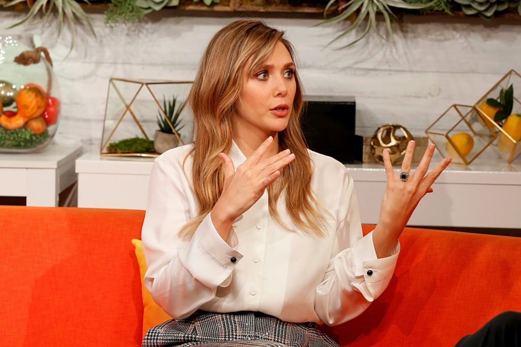 """Elizabeth Olsen, the MCU's Scarlet Witch, attends BuzzFeed's """"AM To DM"""" on October 10, 2019"""