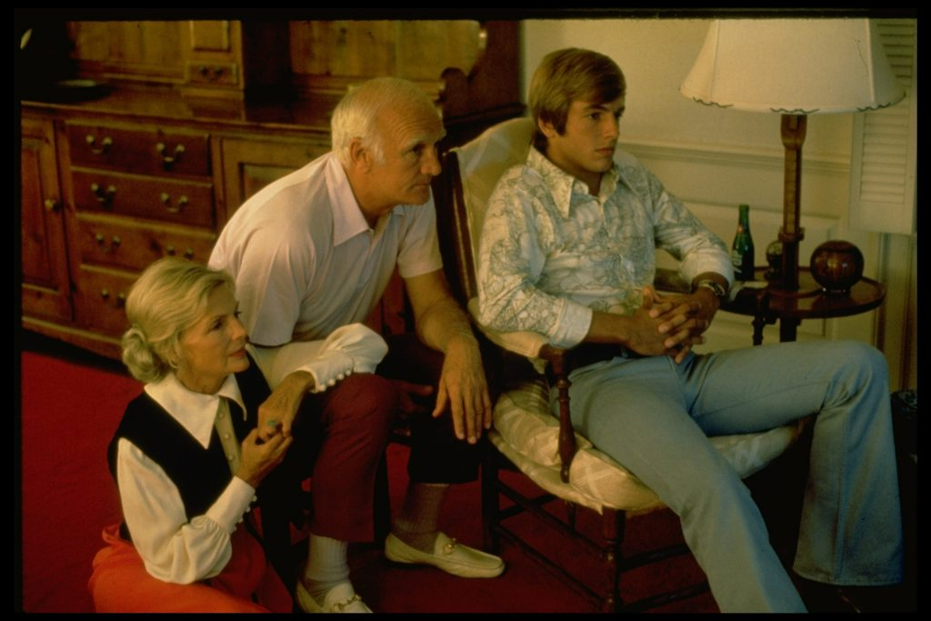 Elyse Knox, Tom Harmon, and Mark Harmon