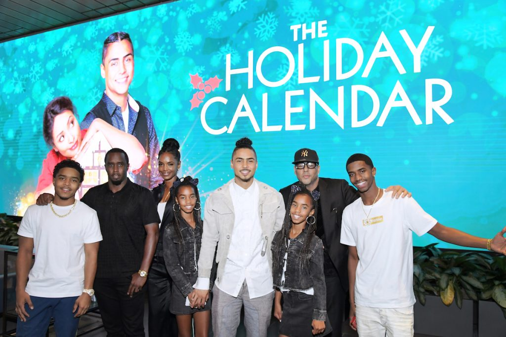 Kim Porter, Diddy, Al B. Sure, and family