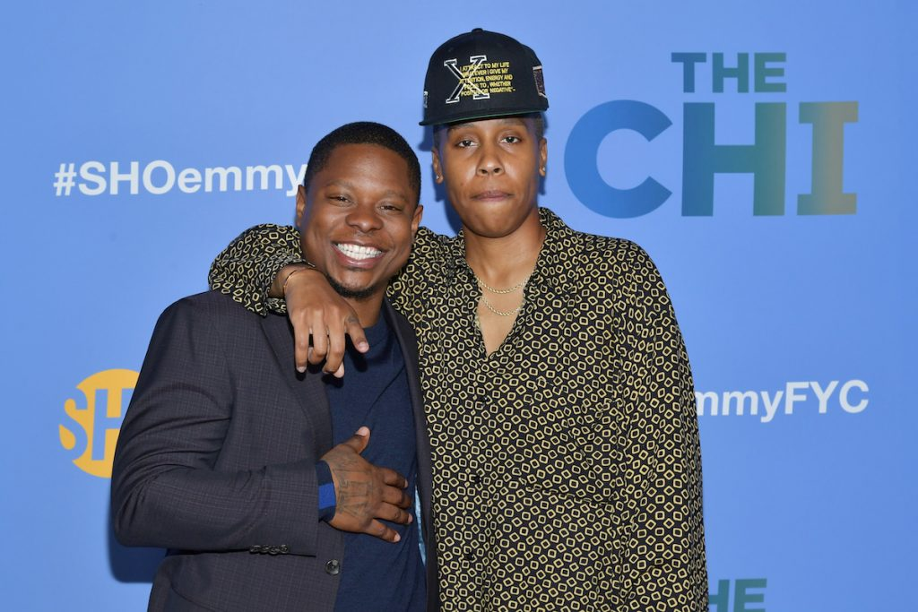 Jason Mitchell and Lena Waithe