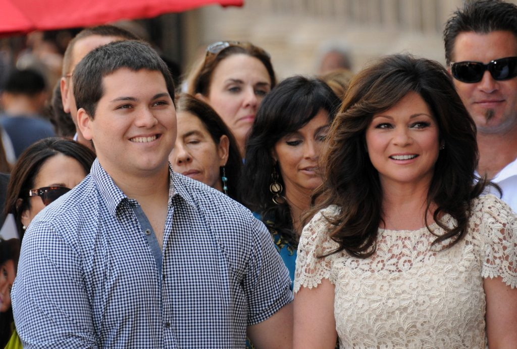 Valerie Bertinelli (right) and her son, Wolfgang Van Halen, in 2012
