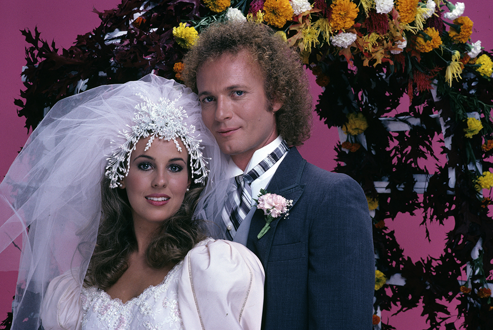 Genie Francis (left) and Anthony Geary as Laura and Luke on ABC's 'General Hospital,'  1981