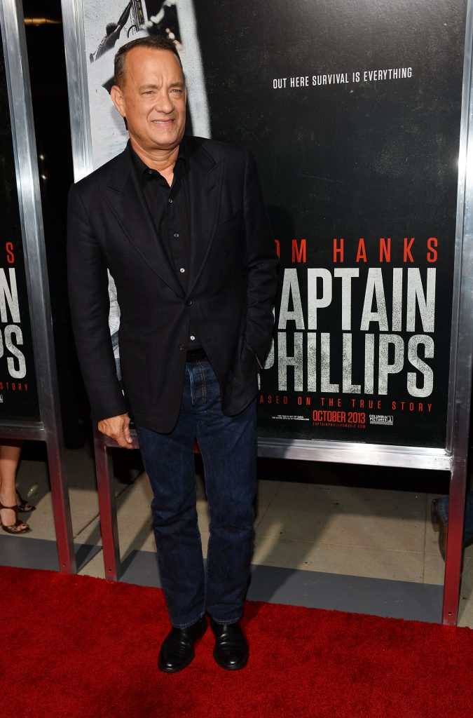 Tom Hanks at the Los Angeles premiere of 'Captain Phillips' in 2013