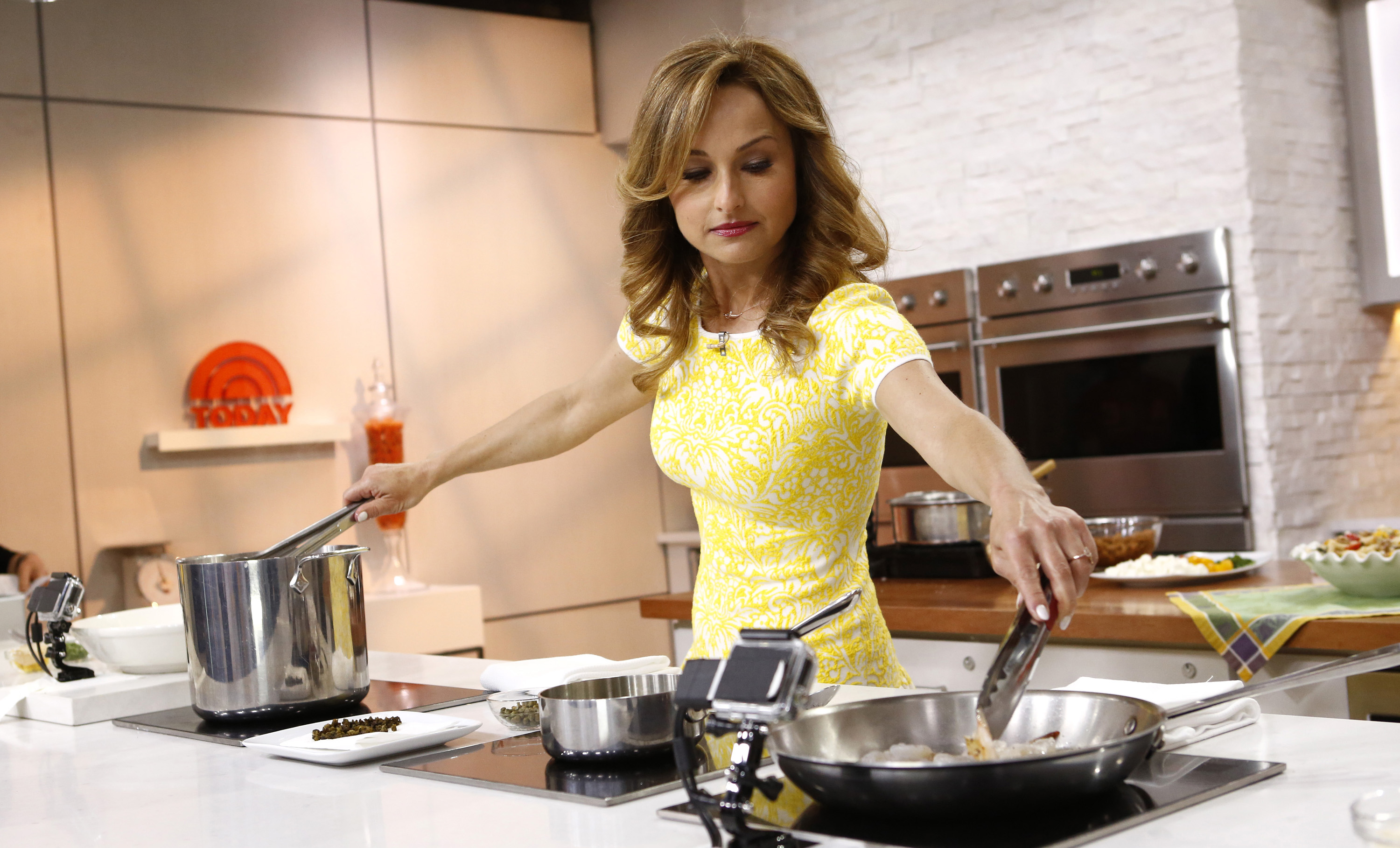 Today Giada De Laurentiis Bengal Cat Ambushes Her Appearance On The Morning Show
