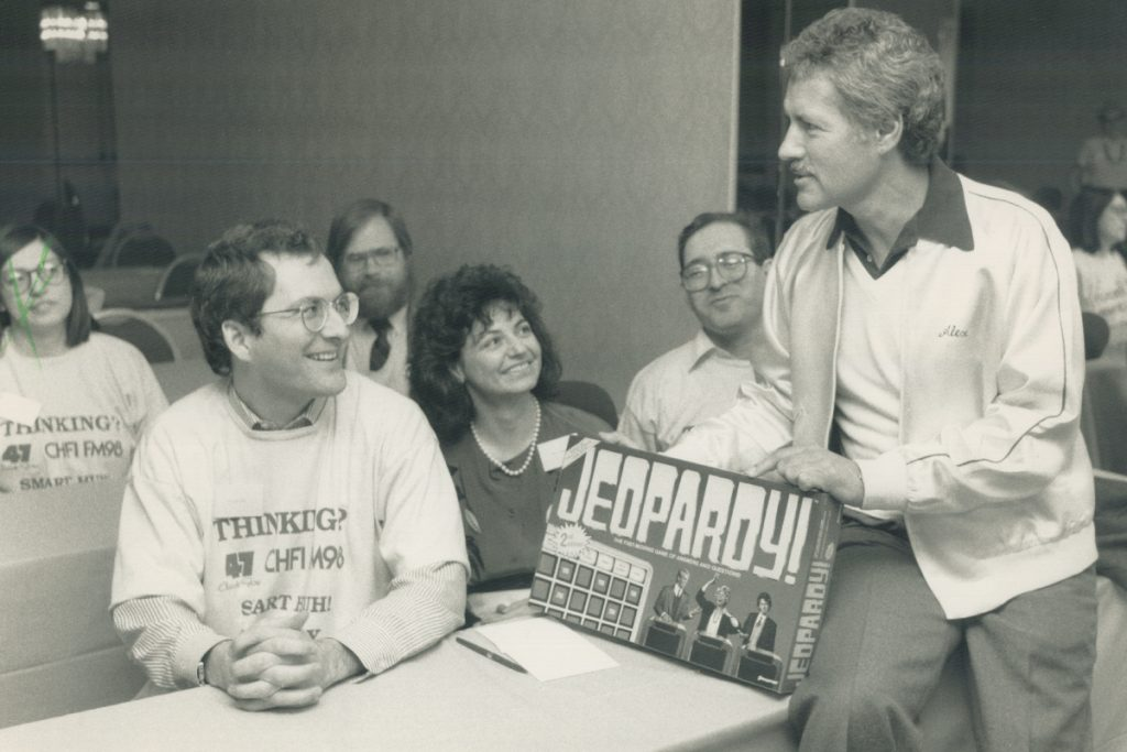 Alex Trebek and 'Jeopardy!' contestants in 1988