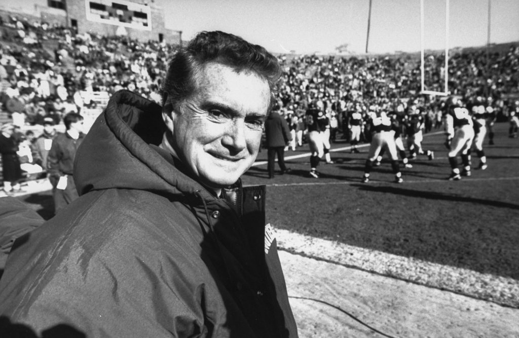 Regis Philbin attending a University of Notre Dame football game in the 1990s