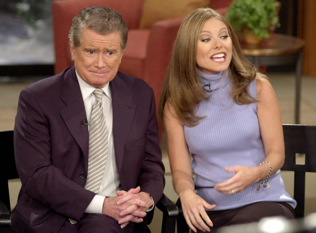Regis Philbin and Kelly Ripa in 2001