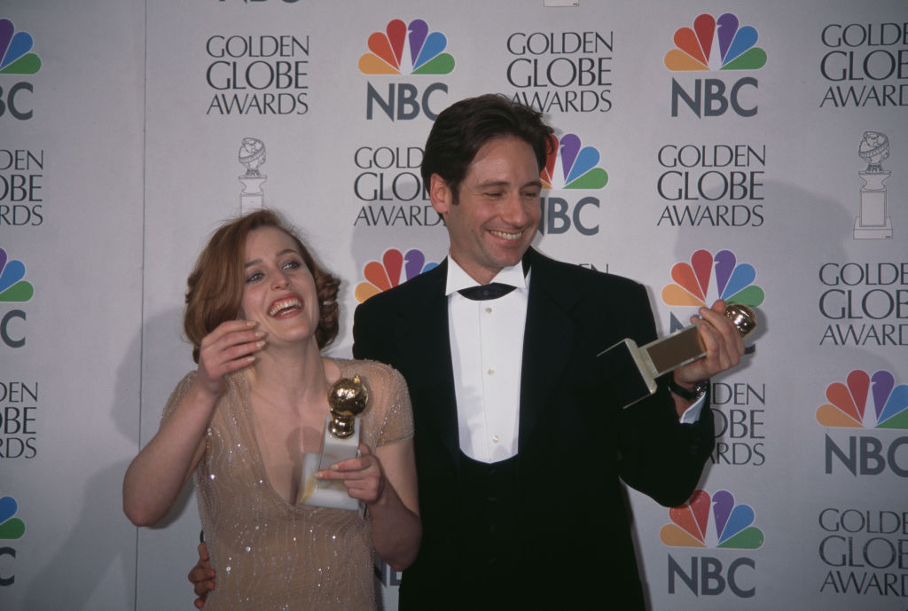 David Duchovny and Gillian Anderson of The X-Files