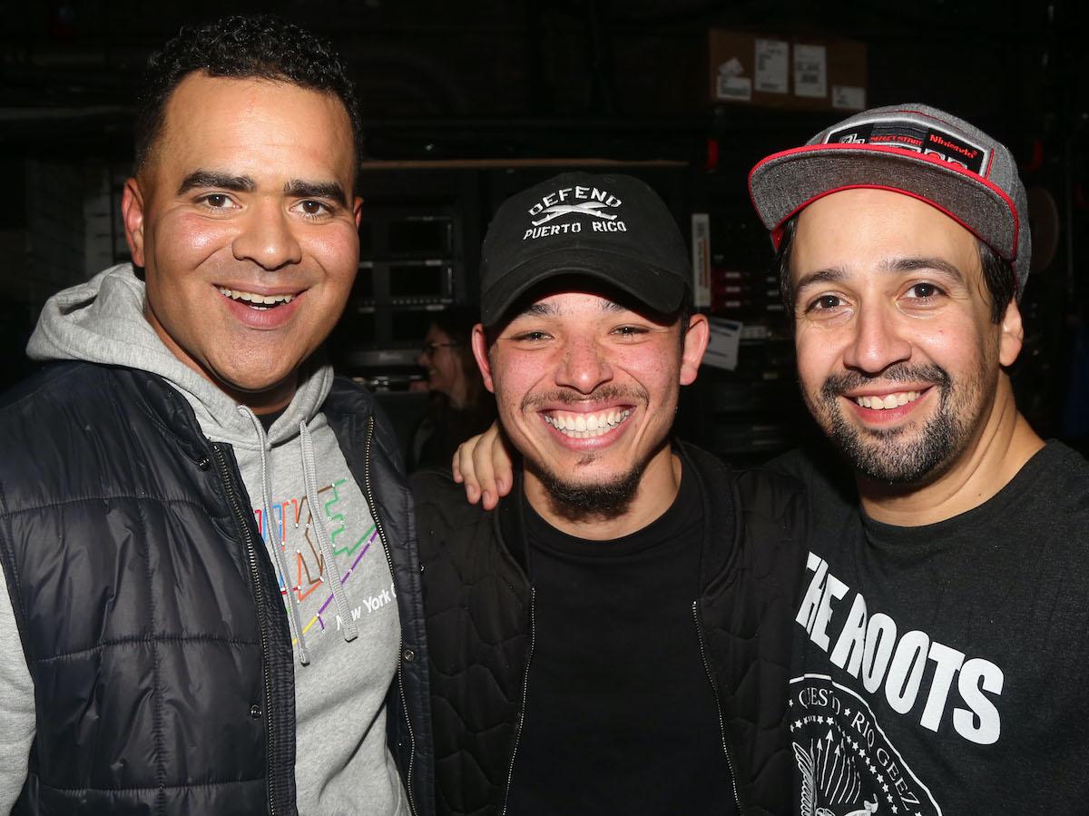 Christopher Jackson, Anthony Ramos and Lin-Manuel Miranda