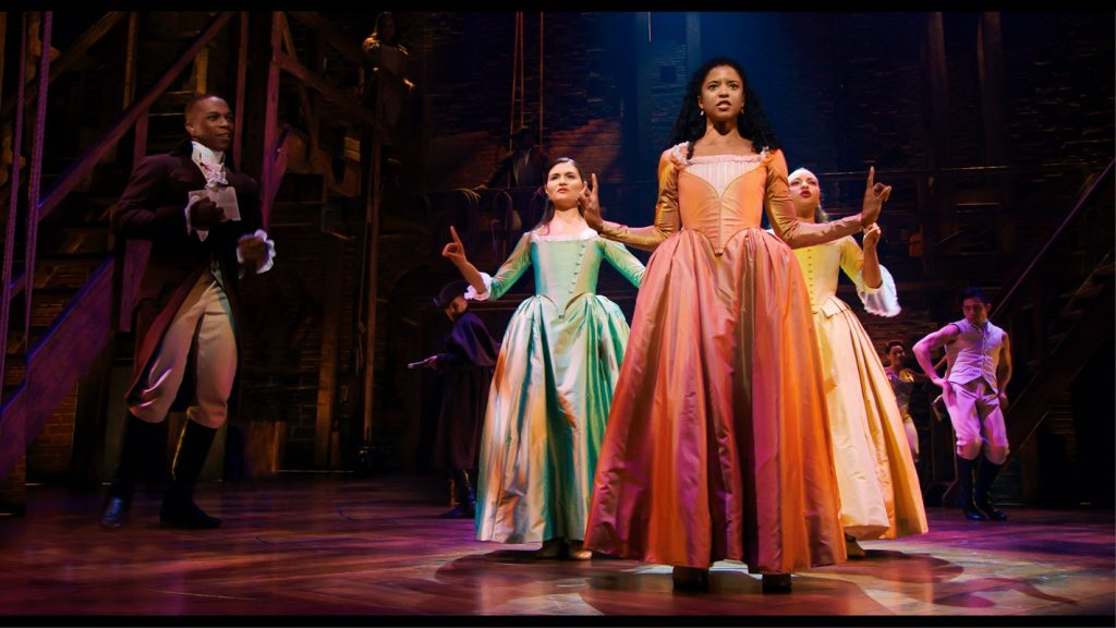 Phillipa Soo, Renee Elise Goldsberry, and Jasmine Cephas Jones in 'Hamilton'