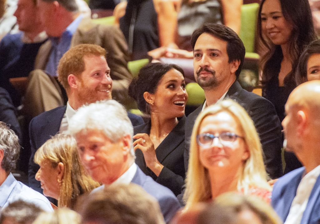 Harry, Meghan, and Lin-Manuel Miranda