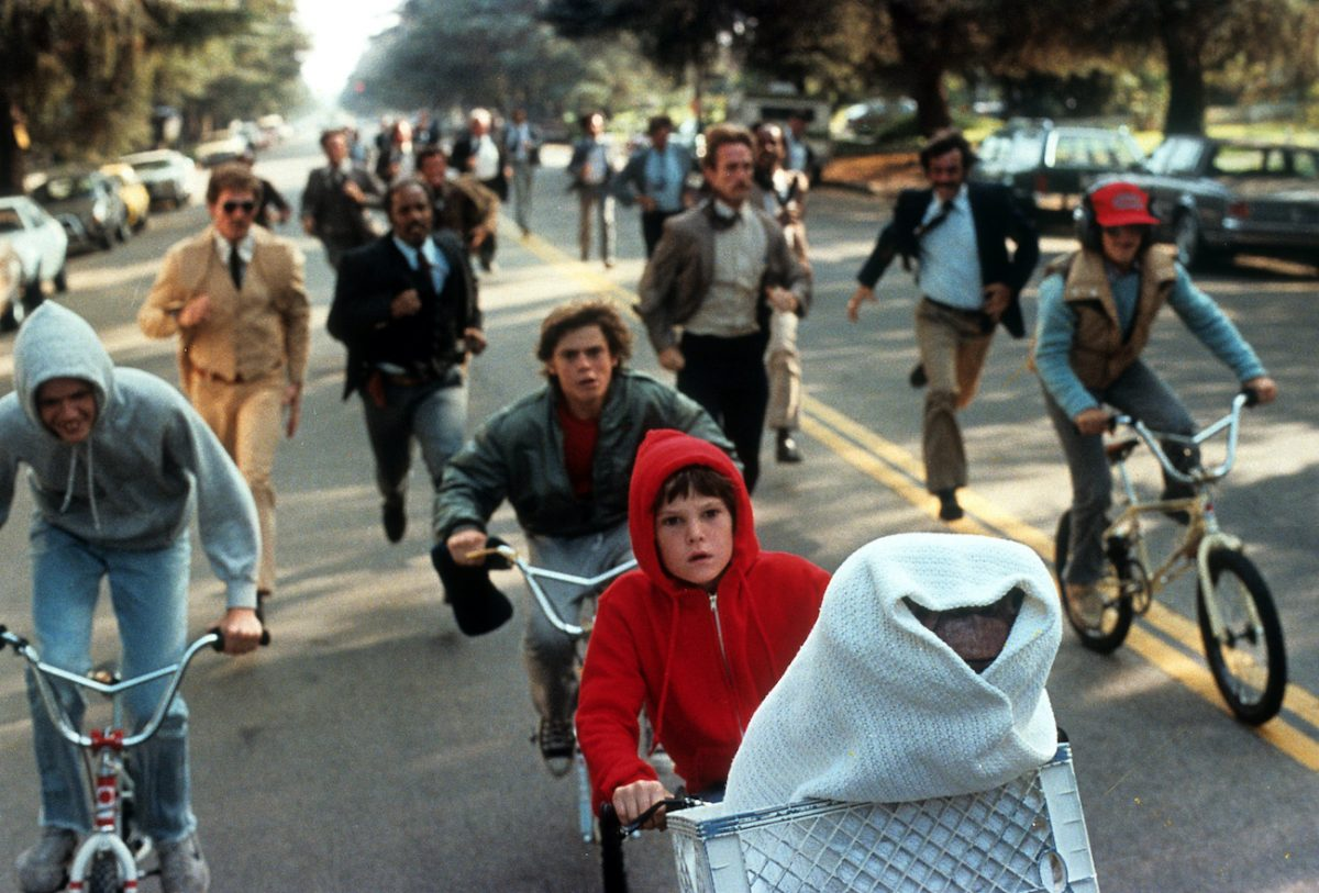 Henry Thomas in a scene from 'E.T. the Extra-Terrestrial'