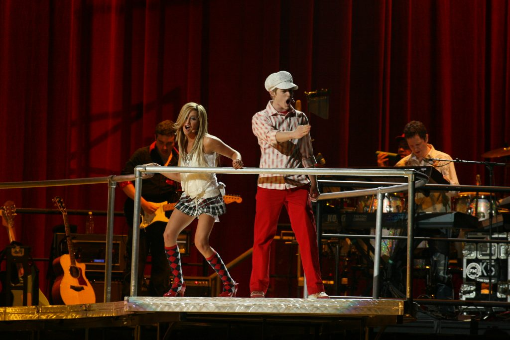 Cast members, Ashley Tisdale and Lucas Grabeel of Disney's production of 'High School Musical'