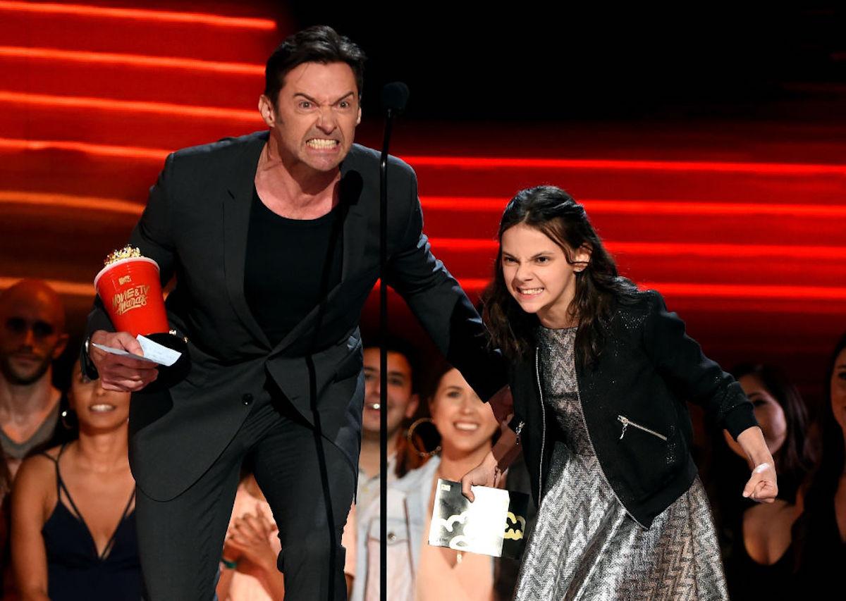 Hugh Jackman and Dafne Keen at the MTV Movie & TV Awards