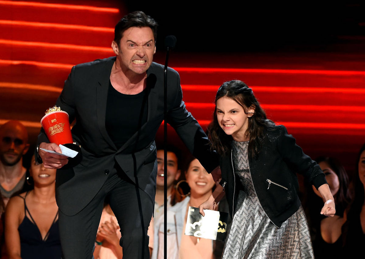 Hugh Jackman and Dafne Keen at the MTV Movie & TV Awards