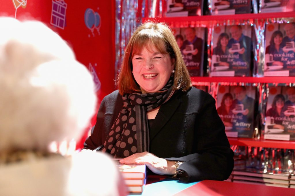 Ina Garten signs cookbooks during Food Network's 25th Birthday Party Celebration