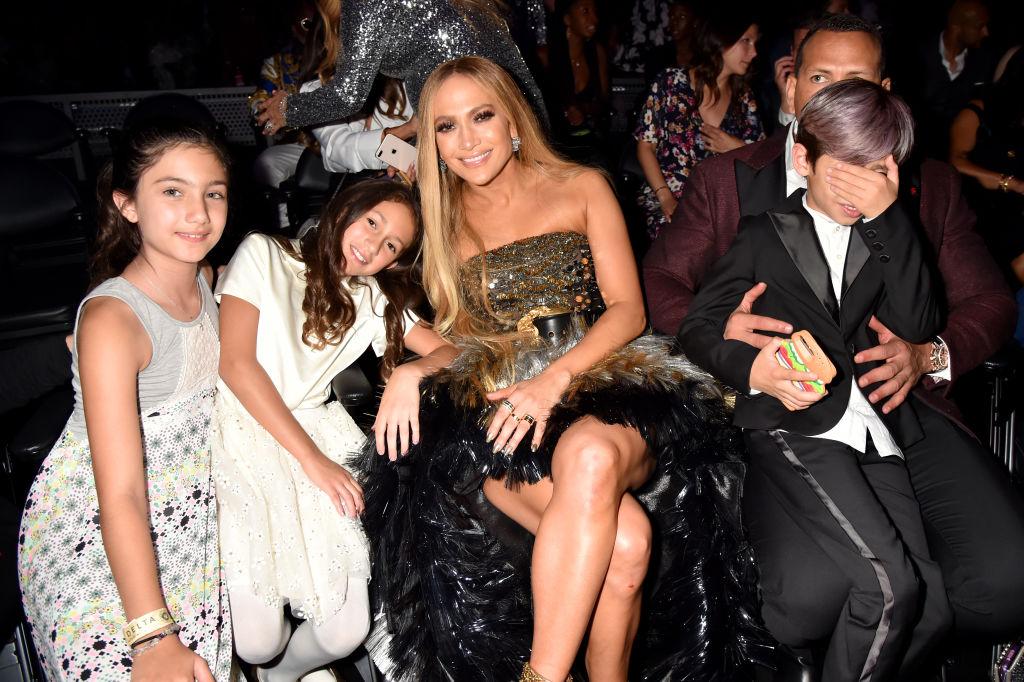 Jennifer Lopez and her children