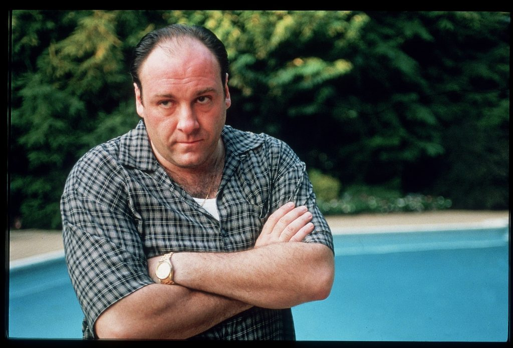 James Gandolfini with his arms folded across his chest