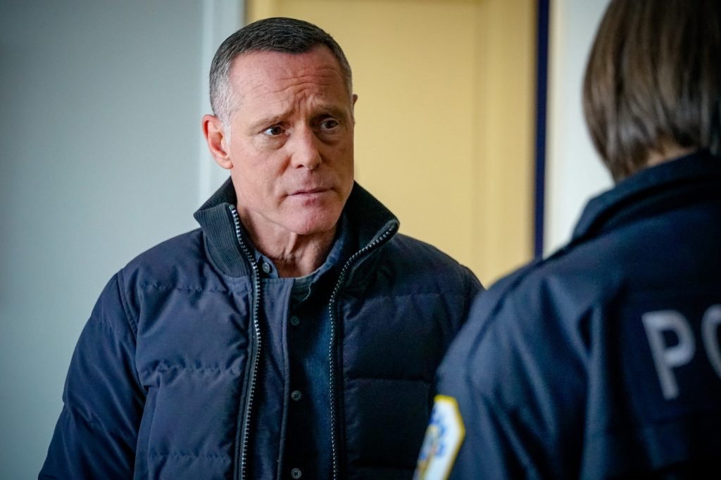 Jason Beghe as Sergeant Hank Voight looking to the side