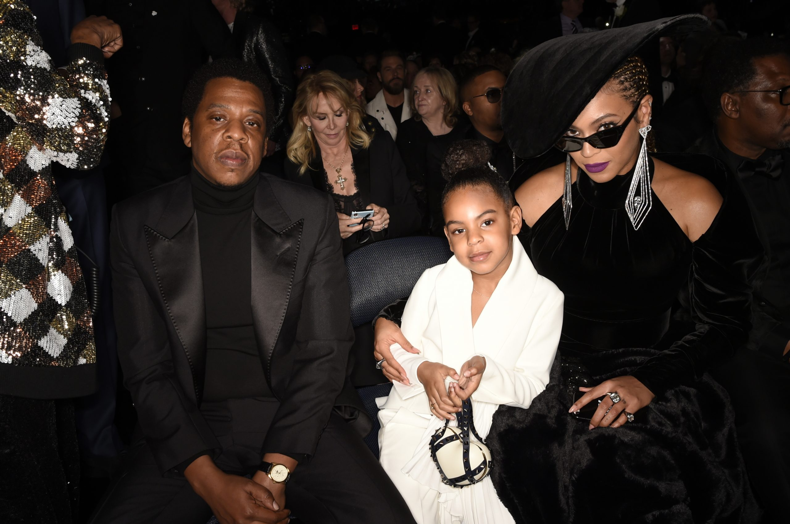 Jay-Z, Blue Ivy, and Beyoncé