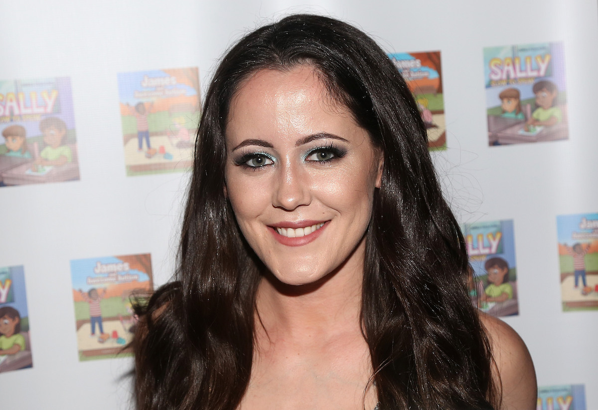 Jenelle Evans at poses on the red carpet at New York Fashion Week.
