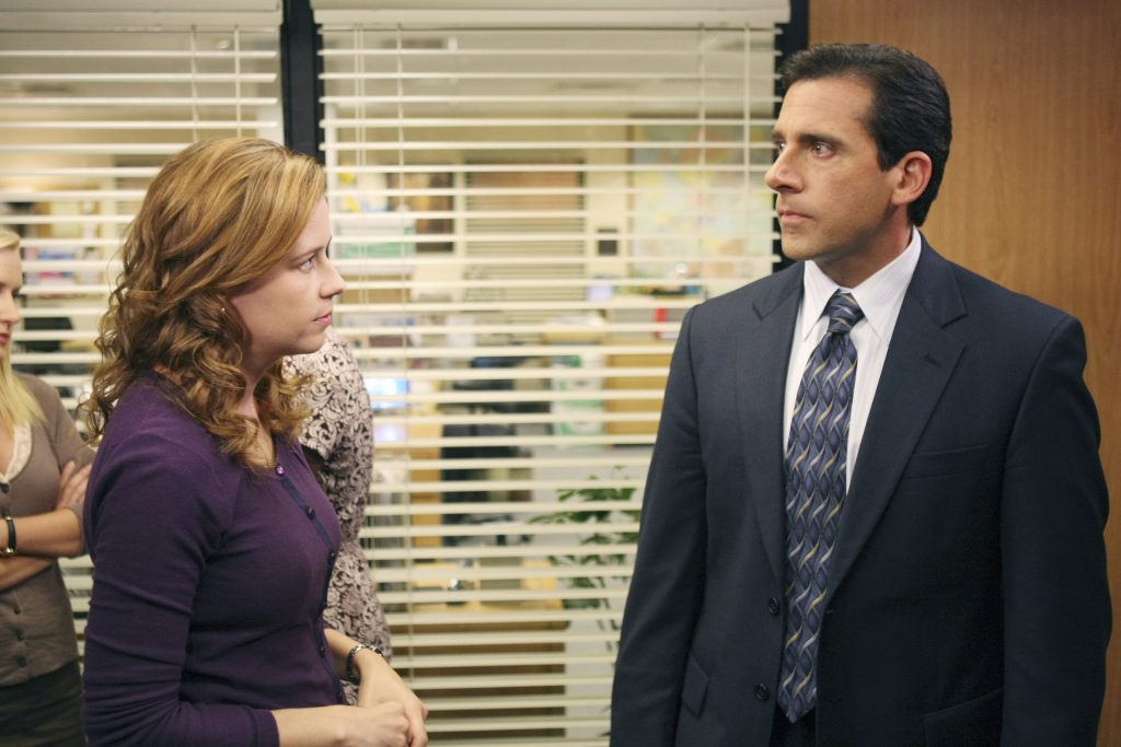 Jenna Fischer and Steve Carell of 'The Office'