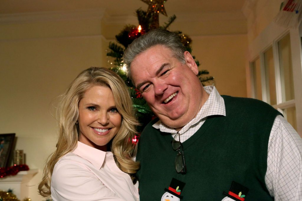 Jim O'Heir and Christie Brinkley