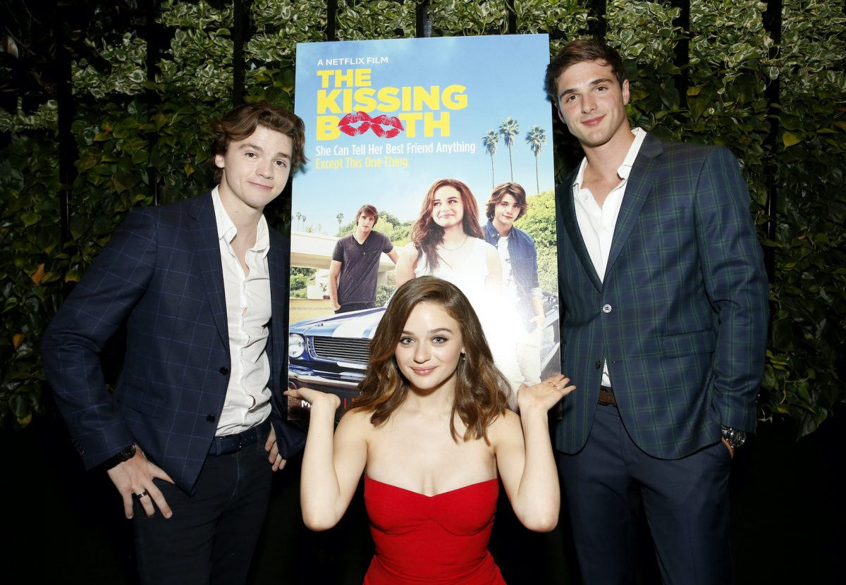 Joel Courtney, Joey King, and Jacob Elordi at a screening of 'The Kissing Booth'