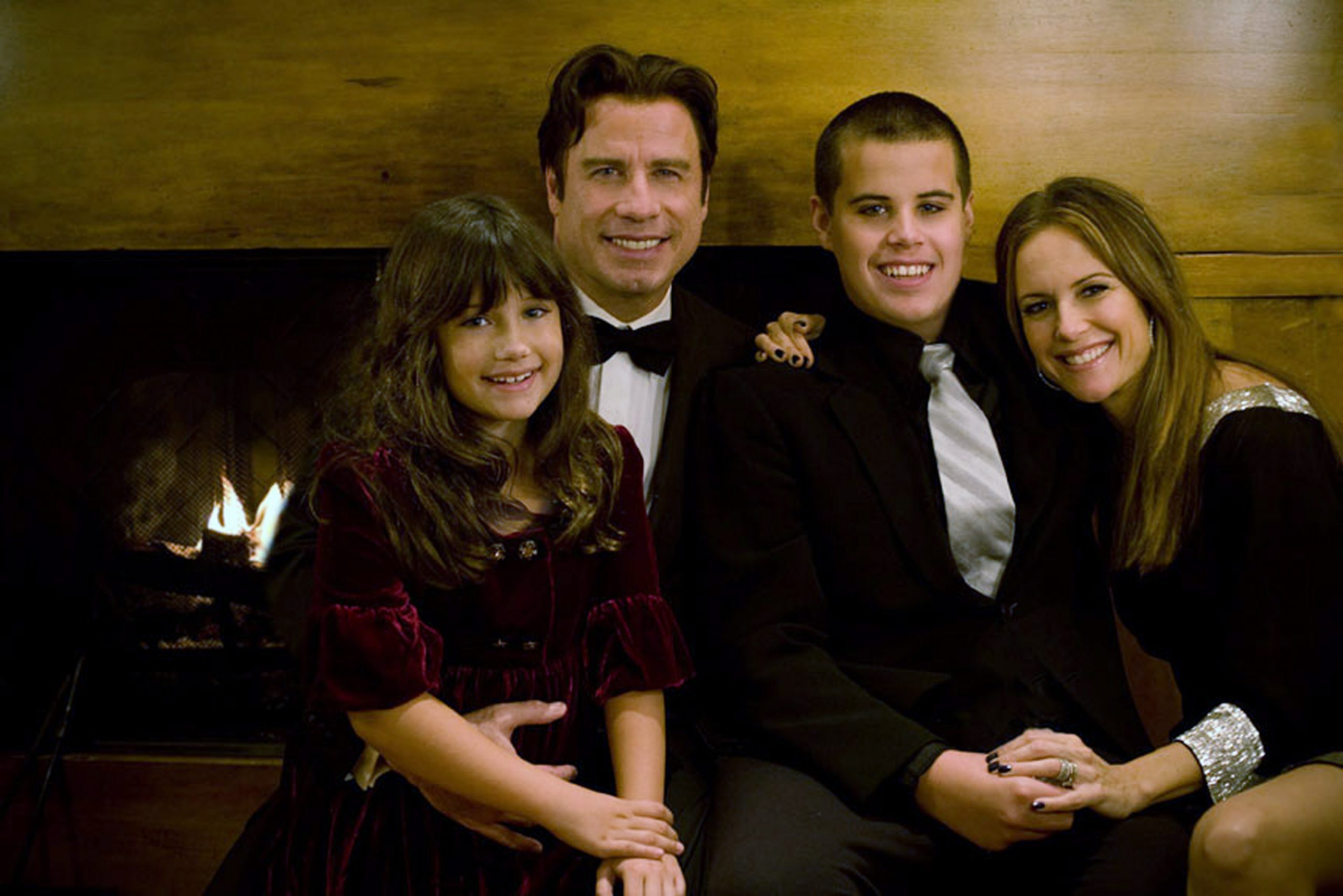 John Travolta and Kelly Preston family