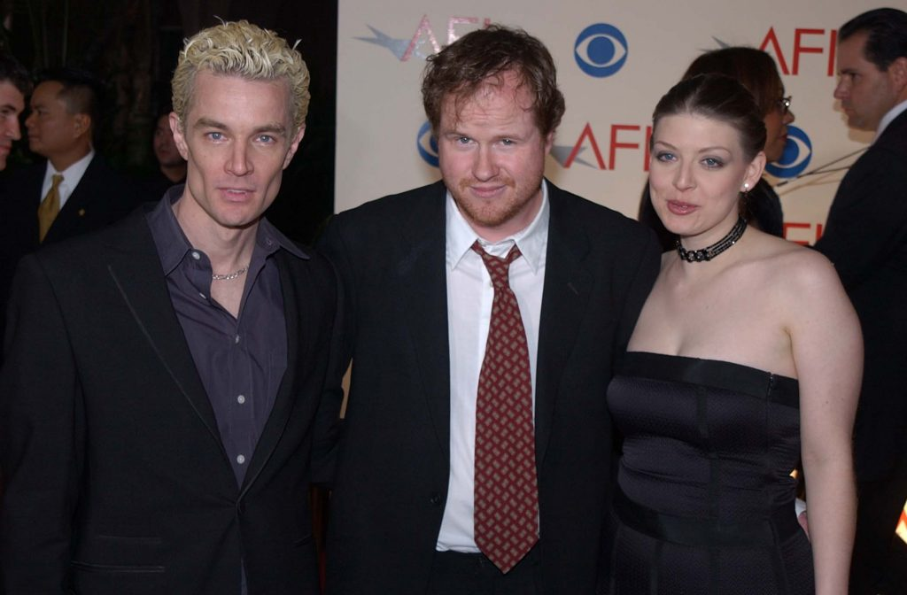 Joss Whedon with James Marsters and Amber Benson