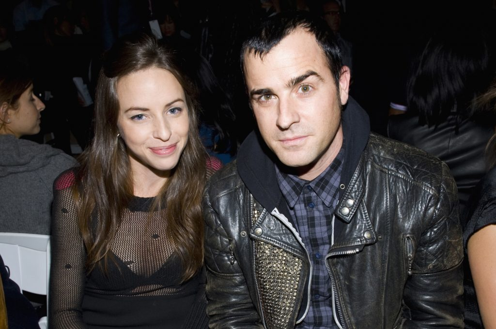 Heidi Bivens and Justin Theroux attend Mercedes Benz Fashion Week