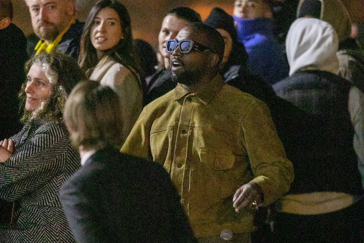 Kanye West attends the 'Yeezy Season 8' show as part of the Paris Fashion Week Womenswear Fall/Winter 2020/2021 on March 02, 2020