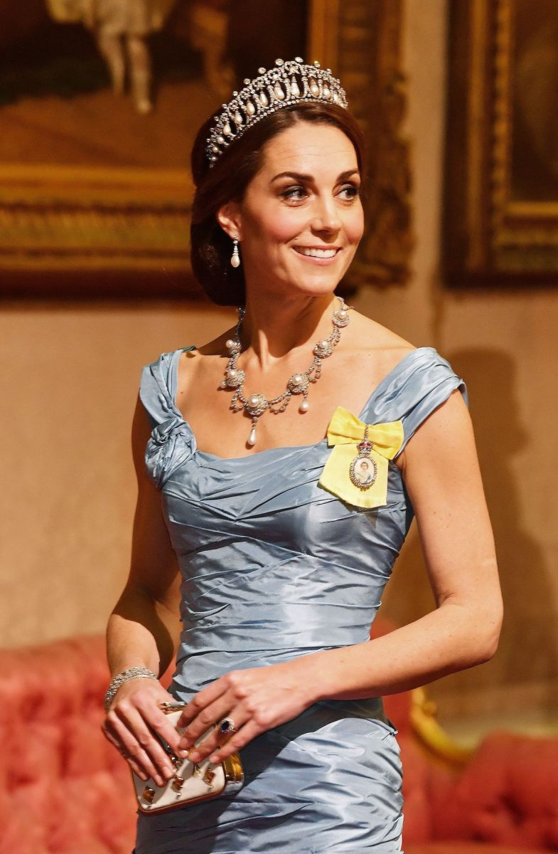 Kate Middleton attends 2018 state banquet at Buckingham Palace