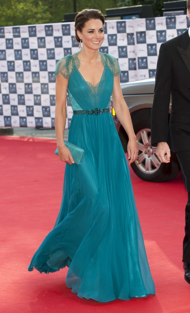 Kate Middleton wore this teal dress in 2012 and 2018.