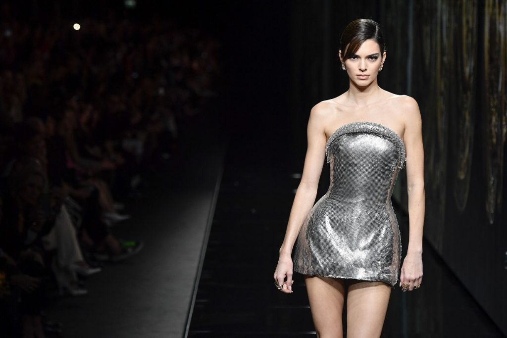 Kendall Jenner walks for fashion house