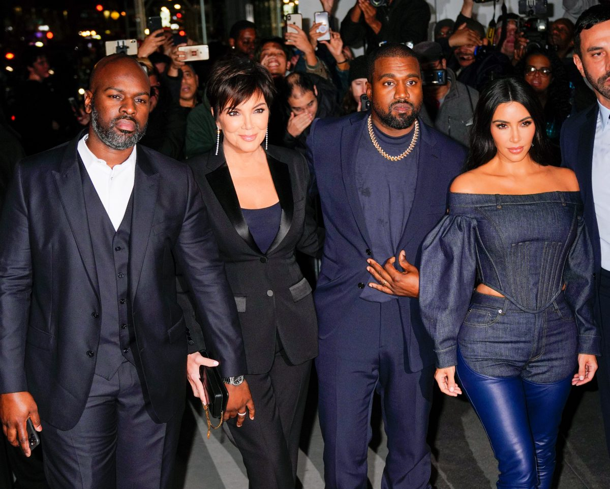 Corey Gamble, Kris Jenner, Kanye West, and Kim Kardashian