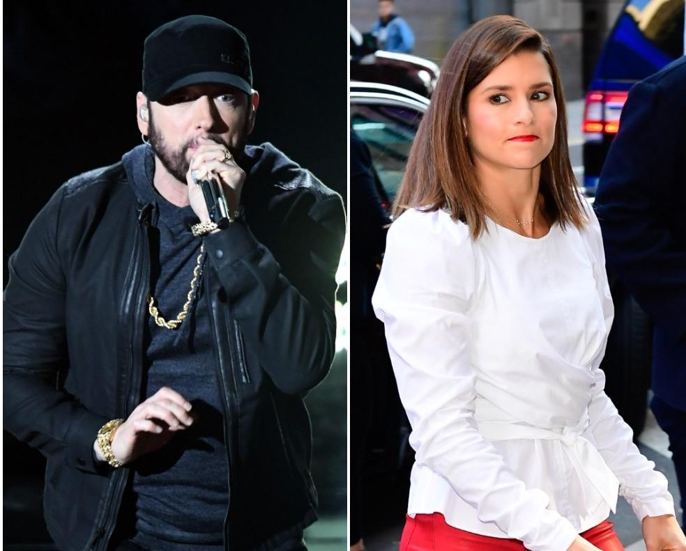 (L) Eminem, (R) Danica Patrick