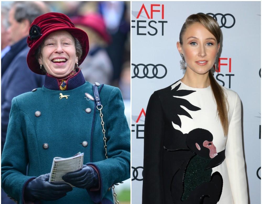 (L) Princess Anne, (R) Erin Doherty