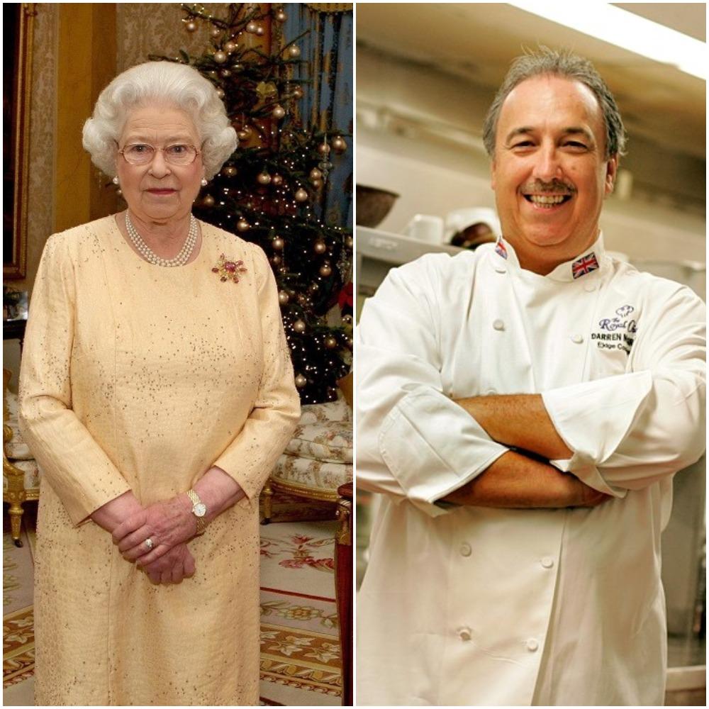 (L) Queen Elizabeth II, (R)  Darren McGrady